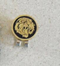 1 only Golden Tiger Golf Ball Marker With Nice Hat Clip
