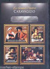 Central África 2012 El Greatest Pintores Caravaggio Hoja Nh