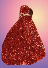"RED GLASS BEADED BELLY DANCE FRINGE 40"" X 12"""