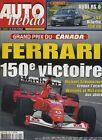 AUTO HEBDO n°1345 du 12 Juin 2002 24h du MANS GP CANADA AUDI RS6 PORSCHE CARRERA