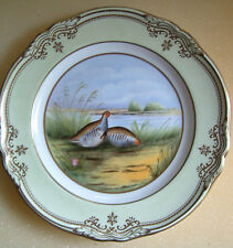 Spode Hand Painted Partridge Plate with Stafford Border
