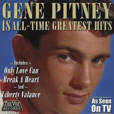 18 All Time Greatest Hits by Gene Pitney (CD, Sep-2004, Teevee Records)