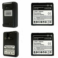 2X New Battery + Charger for HTC EVO 3D EVO V Sensation Sprint 4G G14 G18 G21