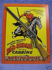 Daisy Red Ryder Carine Tin Metal Sign Rifle Hunting NEW