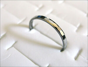 2mm Fashion Faceted Comfort fit Cute Lady's Tungsten Carbide Ring TR0202