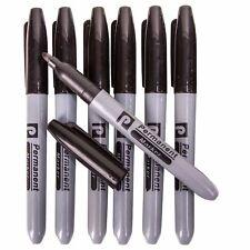 BLACK PERMANENT MARKER PEN 7Pc HIGH QUALITY BULLET TIP Fine Point Office Work