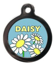 Cute Custom Daisy Pet ID Tags - Flower Pet Dog Cat Name Tag - Personalised FREE