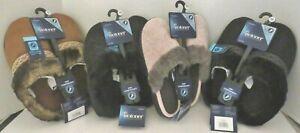 Isotoner Women's Faux Fur Slip-On Slipper-Enhanced Heel Cushion -Choice - NWT