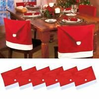 Christmas Chair Covers Tablecloth Runner Decoration Xmas Dinner Party Santa Gift