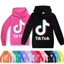 Kids Boys Girls  Hoodies Pullower Casual Long Sleeve Jumper Sweater Tops Tik Tok