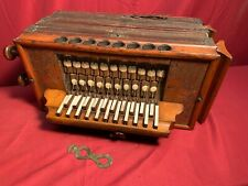 EARLY 20TH CENTURY 2-ROW KEYBOARD MELODEON IN C (and F)