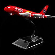 1:400 16cm COCA A380  Metal Airplane Model Office Decoration Toy Gift