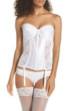 fbd2b7c4274e8 New Nordstrom Women Size Large Va Bien Lace Hourglass Bustier White