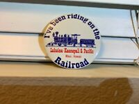 Vintage Train Railroad Pin I've been riding on the Railroad pinback Hawaii Rare