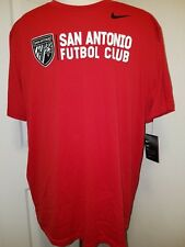 #1167 XXL San Antonio FC Futbol Club Soccer Nike Dri-Fit Tee Red Mens NWT