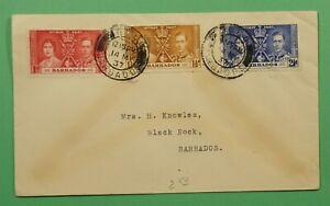 DR WHO 1937 BARBADOS FDC CORONATION C241799