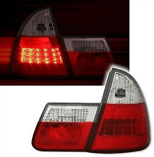 CLEAR LED REAR TAIL LIGHTS BMW E46 1998-2005 STATION WAGON ESTATE TOURING