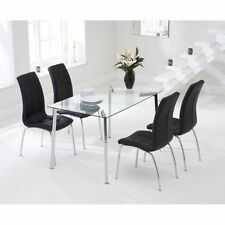 Fixed Rectangular Table & Chair Sets with 5 Pieces