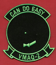 "USMC PATCH - VMAQ 2 ""CAN DO EASY"" GREEN ON BLACK COLOR:GA15-1"