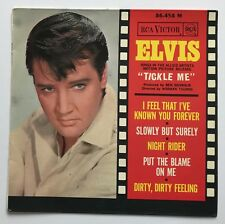 ELVIS PRESLEY-HARD TO FIND ORIGINAL SIXTIES BLUE LABEL FRENCH EP,GREAT COVER