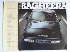Prospectus MATRA SIMCA BAGHEERA/S/X, 1.1979, 12 S de Bon état liste de prix, 29x29cm