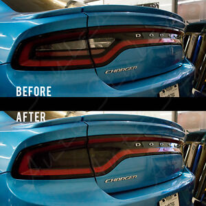 2015-2019 for DODGE CHARGER Smoked TailLight Tint SRT Rear Overlay Pre-Cut Vinyl