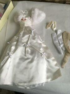 """Franklin Mint 16""""Vinyl Princess GRACE Doll White ENGAGEMENT OUTFIT w/Wrap +Shoes"""