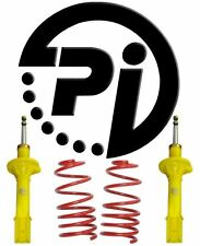 PEUGEOT 206 1.1 40mm PI LOWERING SPRINGS SUSPENSION KIT SHOCKS