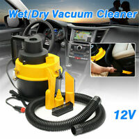 12V 75W Wet Dry Vacuum Cleaner Inflator Portable Turbo Hand Held for Car Vehicle