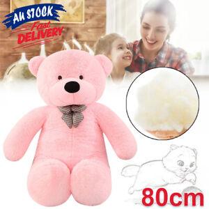 80cm Stuffed Cuddly Pink Bear Giant Plush Christmas Teddy Doll Gift Animal ACB#