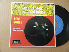 "DISQUE 45T DE TOM JONES AVEC LANGUETTE  "" GREEN GREEN GRASS OF HOME """