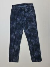 Calvin Klein Jeans Womens Size 27/4 Blue Striped Ultimate Skinny Jeans EUC