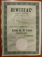 FRANCIA SOCIETA'  DEWITTE & Cie SHARE  AZIONE DA 50 FRANCHI FRANCS 1964 #67