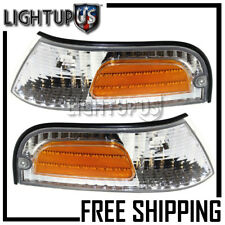 98-08 Ford Crown Victoria Left Right Corner Parking Turn Signal Lights Pair