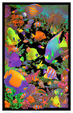 Living Reef Flocked Blacklight Poster Art Print Blacklight Poster, 23x34.5