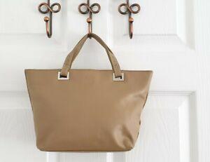 Tula Beige Leather Ladies Handbag Grab Bag