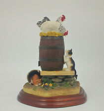 More details for border fine arts - kitten capers a2681 (with wooden base)