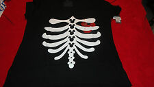 4XL Mickey Mouse Skelton Ribcage Red Heart Tee Shirt NWT DIsney