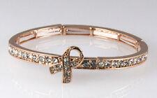 4030919 Pink Ribbon Stretch Bracelet Breast Cancer Awareness Battle Fight Fin...
