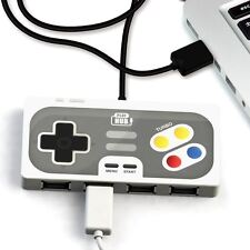 Super Hub PlayHub 4 Port USB 2.0 Hub | Retro Game Controller Style USB Hub