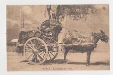 Rome,Italy,Carrettiere da Vino,Horse Drawn Carriage with Barrels of Wine,c.1909