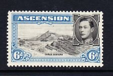 ASCENSION 1938-53 6d BLACK & BLUE PERF.13½ SG 43 MINT.