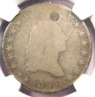 1795 Small Head Flowing Hair Half Dollar 50C (O-126) - NGC AG Details (Plugged)