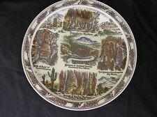CARLSBAD CAVERNS Vintage Souvenir Plate Vernon Kilns, Hand Colored