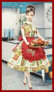 Thanksgiving Barbie Holiday Hostess Collection Shipper Gold Label NRFS 2010