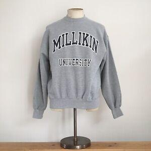 Vintage USA Milllikin University Grey Marl Jerzees Sportswear Sweatshirt L
