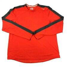 Saucony Pullover Shirt Mens L Red Long Sleeve Activewear Athleisure Crew Neck