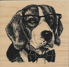 """Nerdy Dog"" Rubber Stamp by Inkadinkado"