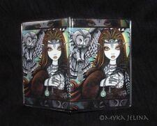 Tribal Owl Goddess Angel Fae Sirin ID Card Holder Myka Jelina Art
