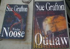 2 X SUE GRAFTON ..N IS FOR NOOSE & O IS FOR OUTLAW..p/b